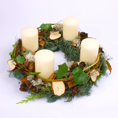 Adventskranz - Winterwald